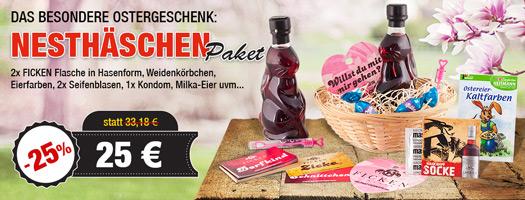 Angebot - FICKEN Nest-Häschen Paket mit 2x FICKEN Hase 0,2l + Oserkörbchen uvm. für 25 EUR