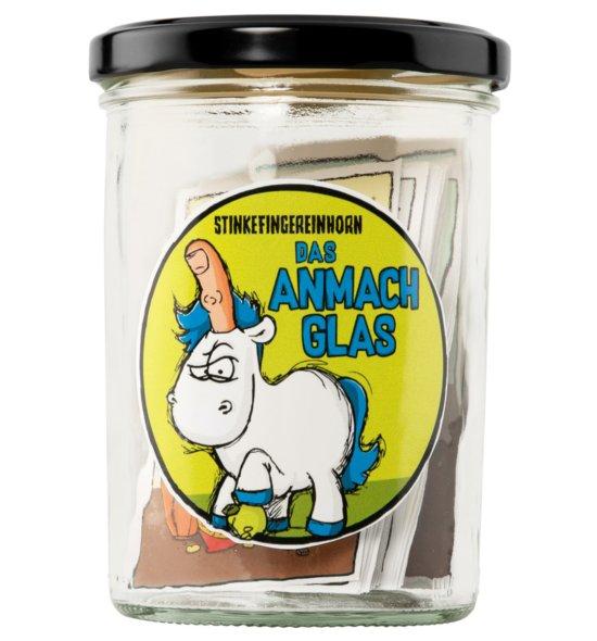 Stinkefingereinhorn - das Anmachglas Voderseite