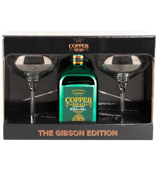 Copperhead The Gibson Edition Gin + 2 Martini Gläser · 0,5l · 40%