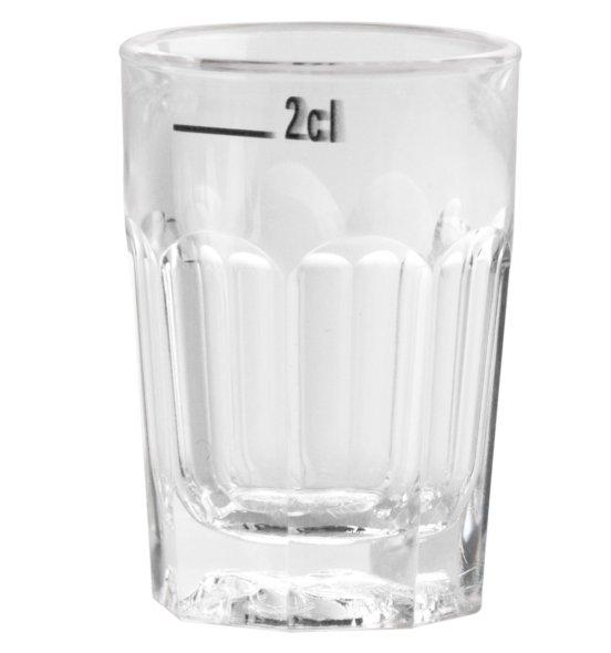 Facetten-Schnapsglas 2cl