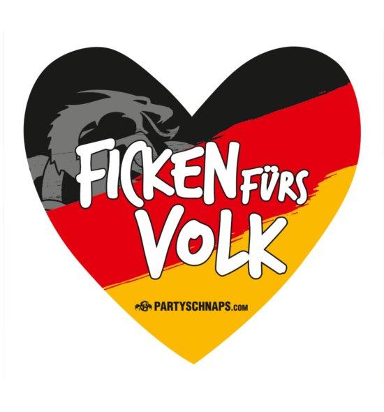 Aufkleber-Herz Deutschland · 20er Pack
