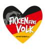 Aufkleber Herz Deutschland