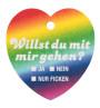 Bierdeckel-Herz Regenbogen Vorderseite