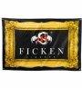 FICKEN Fahne Goldrand