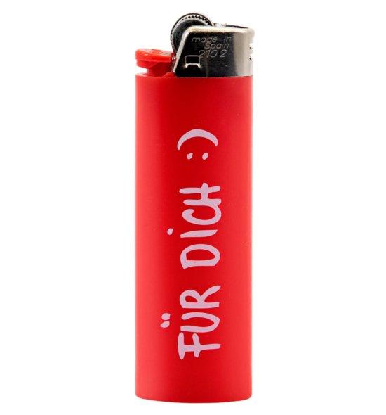 FICKEN Feuerzeug - Für Dich in rot