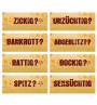 FICKEN Gastroaufsteller Mix · 8 Motive