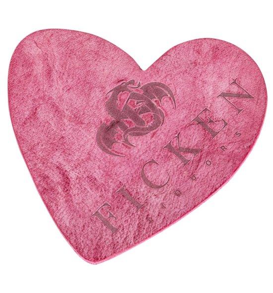FICKEN Leder Bierdeckel pink