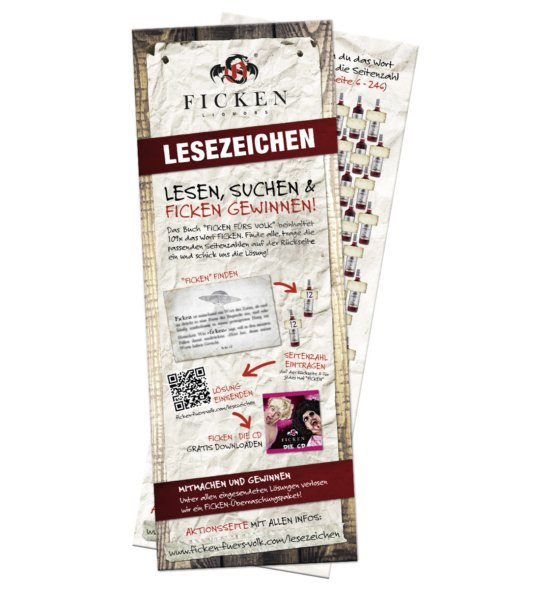 """Lesezeichen """"FICKEN FÜRS VOLK"""""""