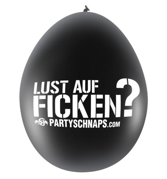 FICKEN Luftballons pink & schwarz · 10er Pack
