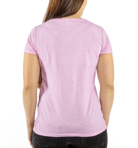 FICKEN Partyshirt pink hinten Damen