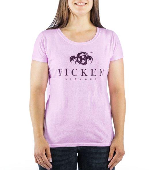 FICKEN Partyshirt pink vorne Damen