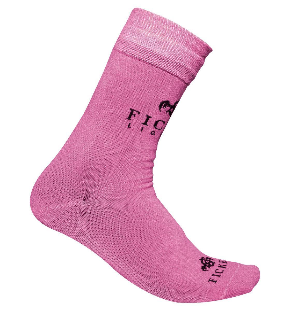 FICKEN Socken pink · Party Kneipe Bar