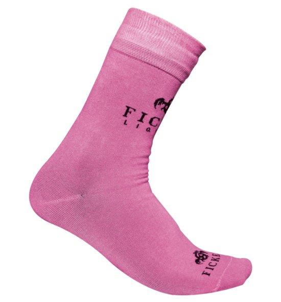 FICKEN Socken pink Seitenansicht