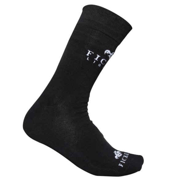 FICKEN Socken schwarz Seitenansicht