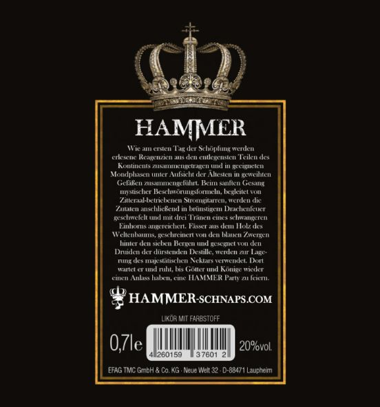 HAMMER Schnaps 0,7l
