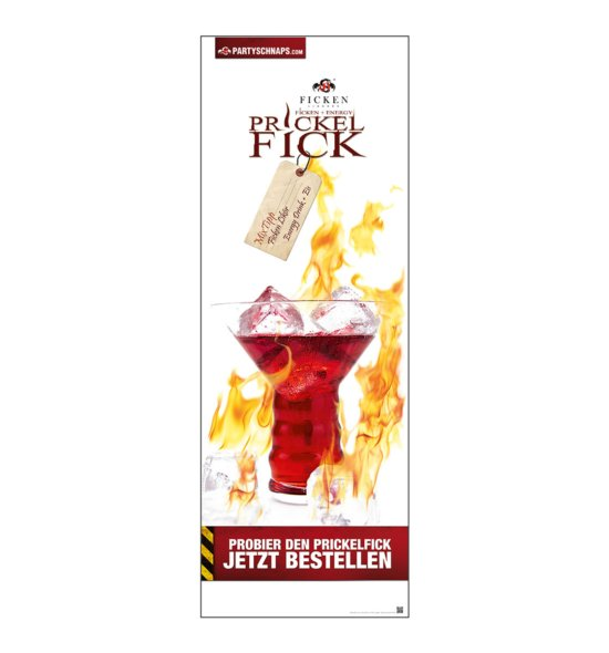 Poster PRICKELFICK Getränk