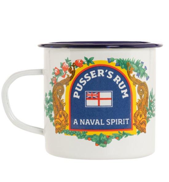 Pusser's Rum Emaille Tasse