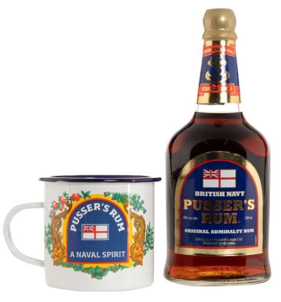 Pusser's Rum British Navy inkl. Emaille Tasse