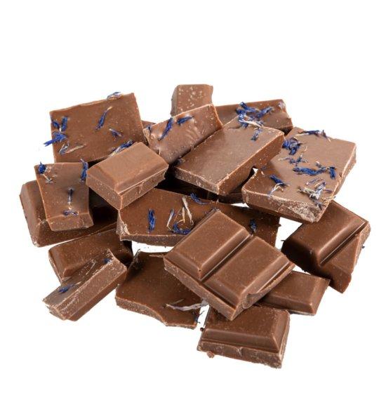 Stinkefingereinhorn Schokolade Vollmilch und Kornblume offen