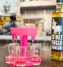 Shotbuddy Pink und Stinkefingereinhorn-Korn in Aktion