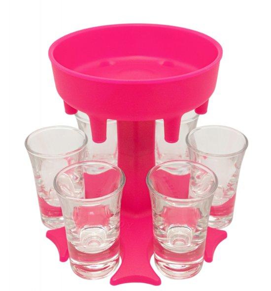 Shotbuddy Pink mit Gläser