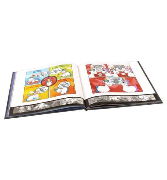 Stinkefingereinhorn Comicbuch aufgeschlagen