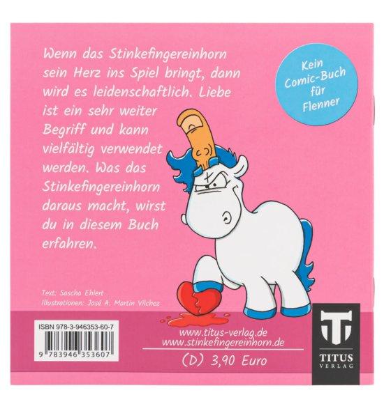 Stinkefingereinhorn Comicheft - Liebe macht schön - Rückseite