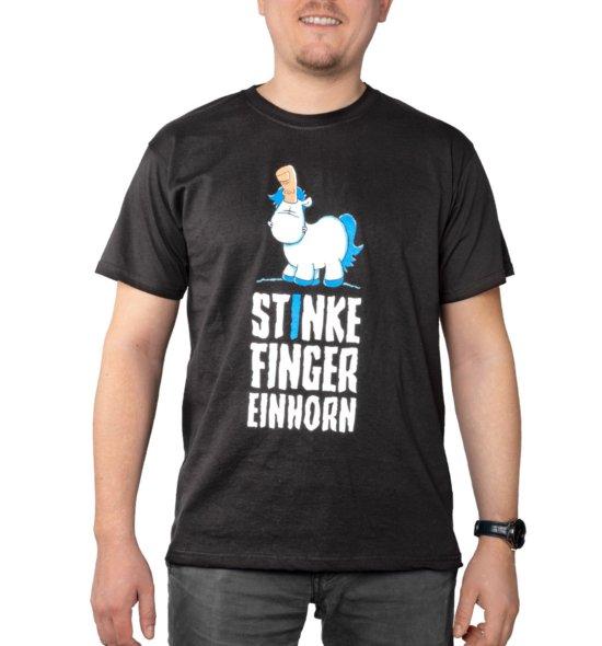 Stinkefingereinhorn Shirt Crowdfunding Vorderseite