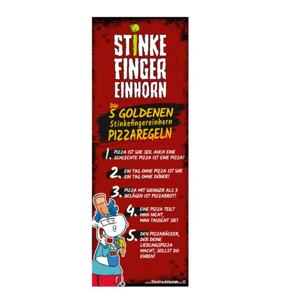 Stinkefingereinhorn Poster Pizza