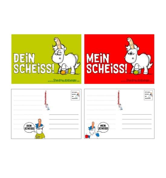 Stinkefingereinhorn Postkarten