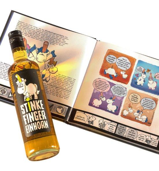 Stinkefingereinhorn Sorglos Set Buch und Flasche
