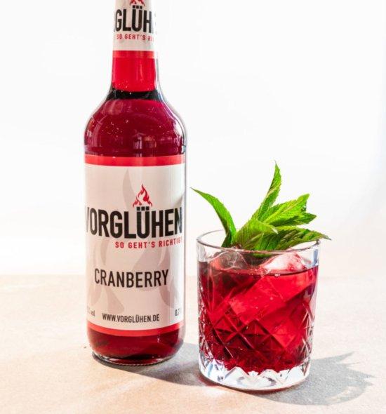 VORGLÜHEN Fruchtlikör 0,7l Cranberry Glas
