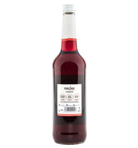 VORGLÜHEN Fruchtlikör 0,7l Cranberry Rückseite